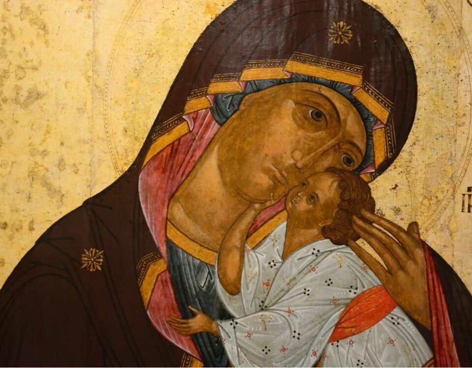 Maryja z dzieciątkiem na ikonie